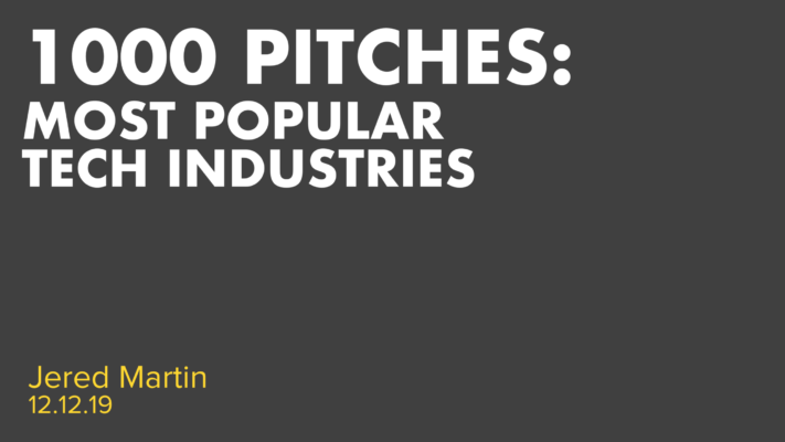 1000 Pitches - Most Popular Tech Industries