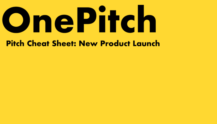 OnePitch Pitch Template - New Product Launch