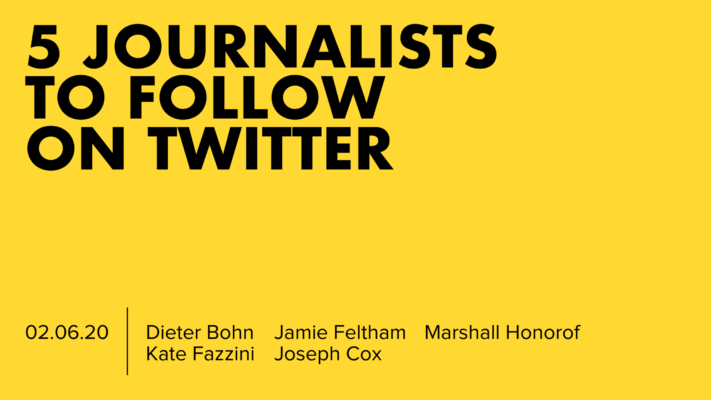 5 Journalists To Follow On Twitter, February 2020