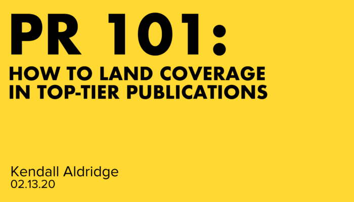 How To Land Coverage In Top-Tier Publications