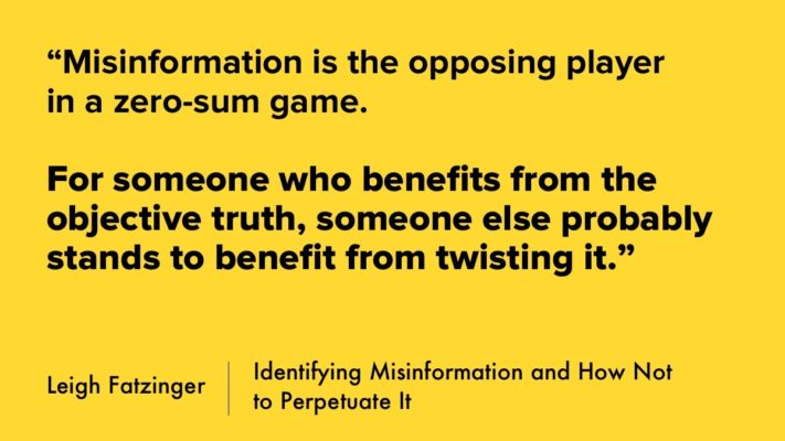 Identifying Misinformation And How Not To Perpetuate It