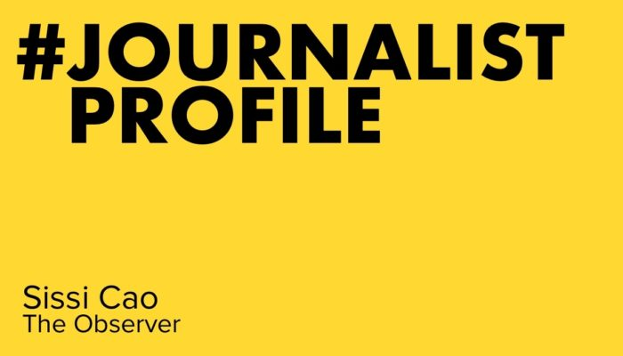 Journalist Profile - Sissi Cao, The Observer