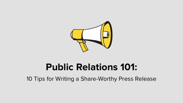 10 Tips For Writing A Press Release