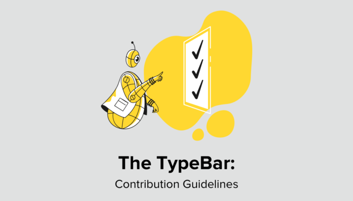 The TypeBar - Contribution Guidelines
