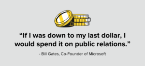 Bill Gates Public Relations Quote
