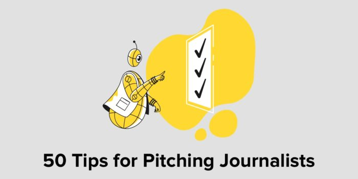 50 Tips For Pitching Journalists