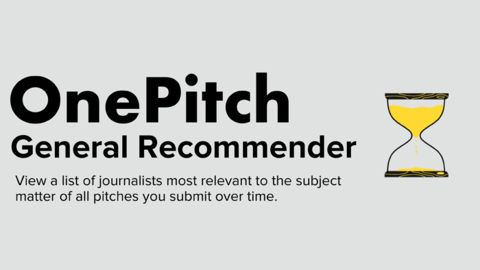 OnePitch General Recommender