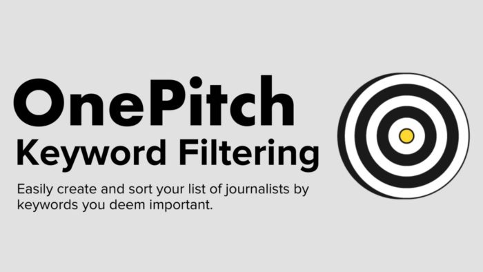 Filter By Keyword On OnePitch